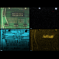 MicroXRF analysis of the printed circuit board