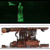 MicroXRF analysis of banknote